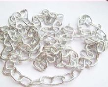 Bright silver plated lightweight chain. 1m length. 12mm x 7mm links.